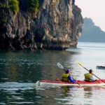 kayaking in the Ha Long Bay