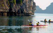 kayaking in the Ha Long Bay